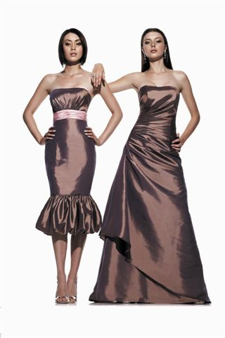 Now in stock - both dresses, available to order in over 40 different colours