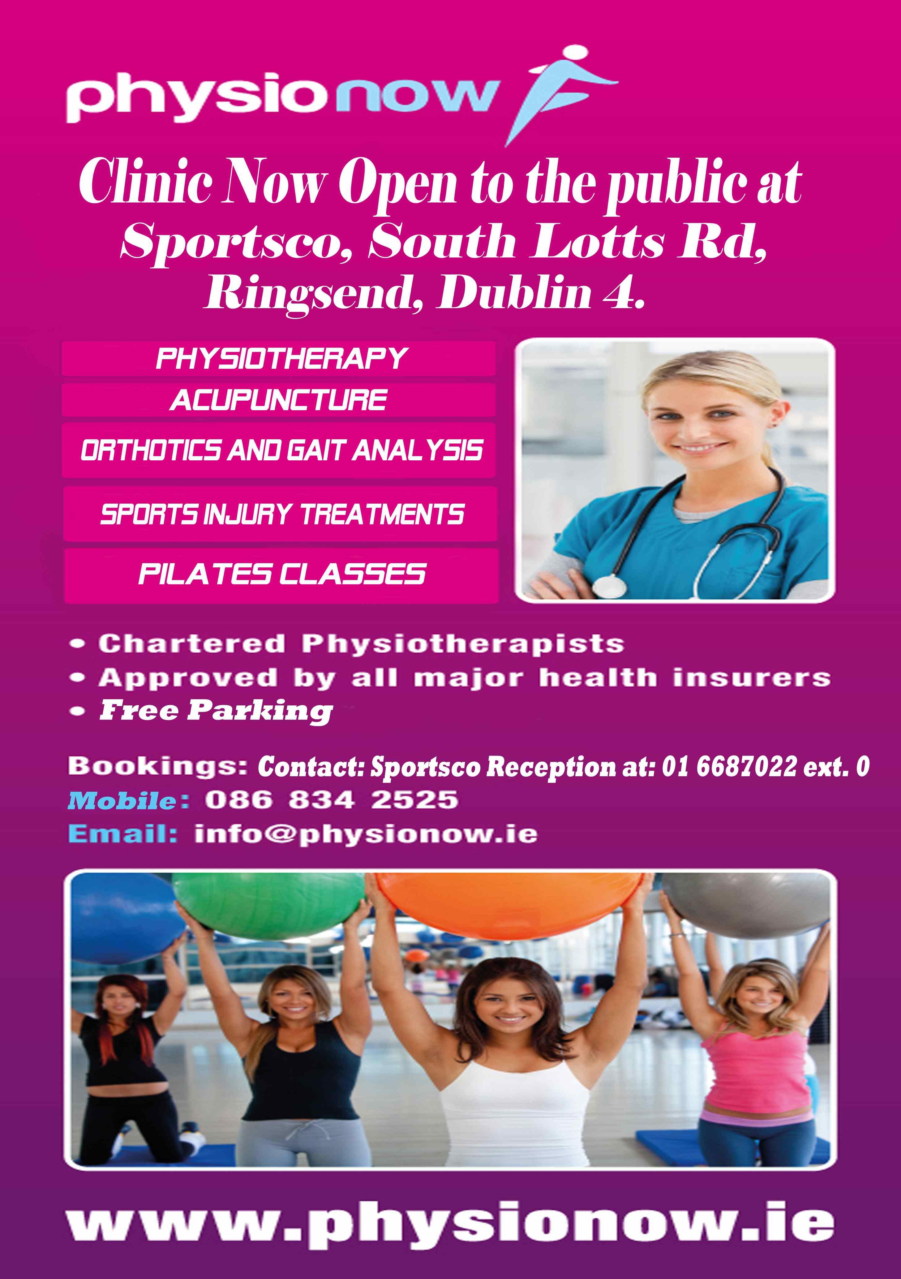 PhysioNow Dublin 4 clinic