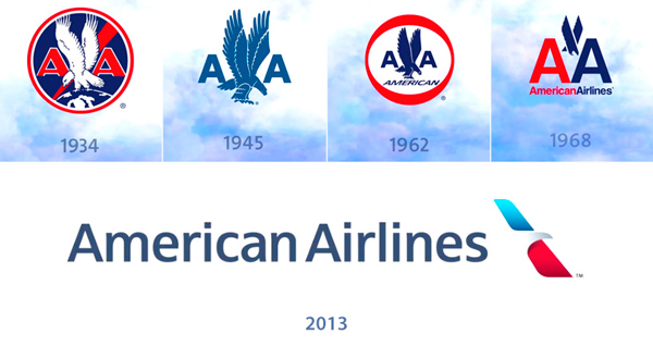 Evolution Of American Airlines Logo