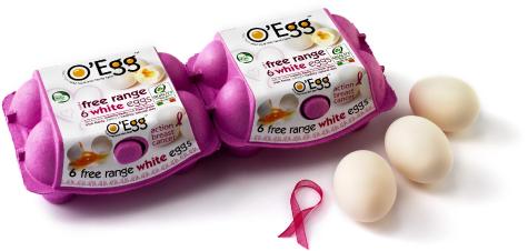 O Egg Pink2 White Eggs
