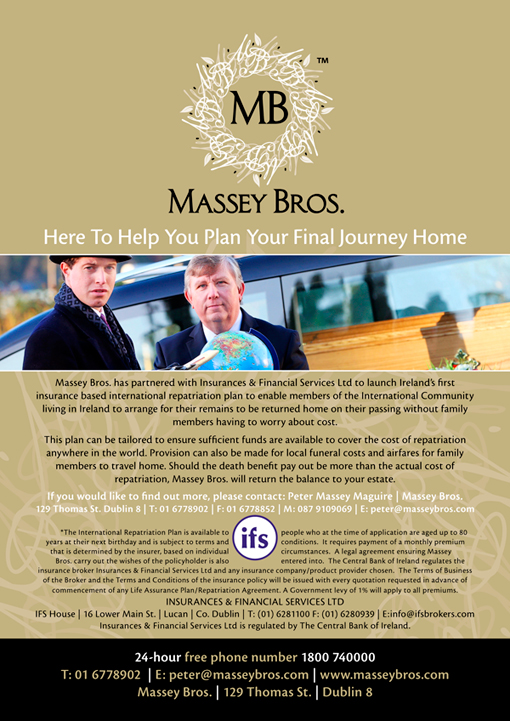 Massey Bros Repatriation Flyer