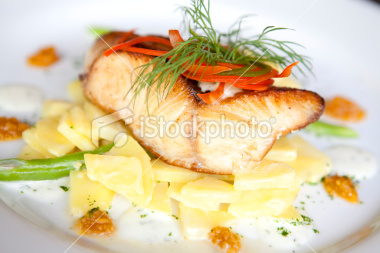 Stock Photo 16376140 Roasted Red Mullet Fish