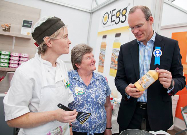 Margaret Farrelly With Simon Coveney Ploughing Championships