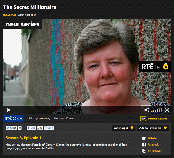 Margaret Farrelly On Secret Millionaire