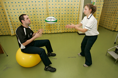 Physionow Clinic Physiotherapist And Patient
