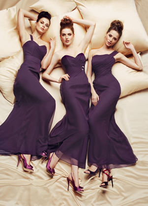 Now in stock - all three dresses, available to order in over 40 different colours