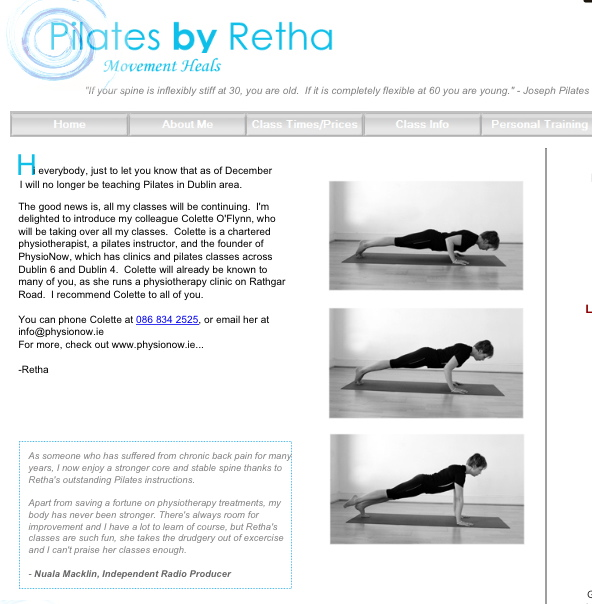 Pilates By Retha Page