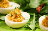 O Egg Goats Cheese Devilled Eggs