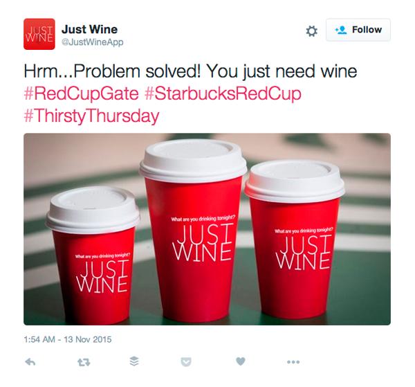 Just Wine Starbucks Cup Twitter