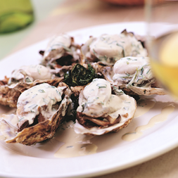 Oysters In Cream Spinach