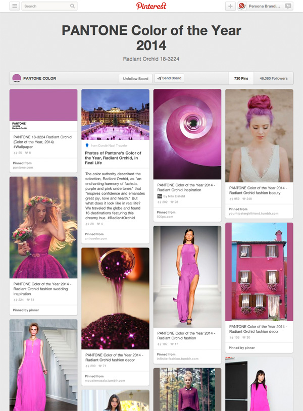 Pantone Colour Of The Year 2014 Pinterest