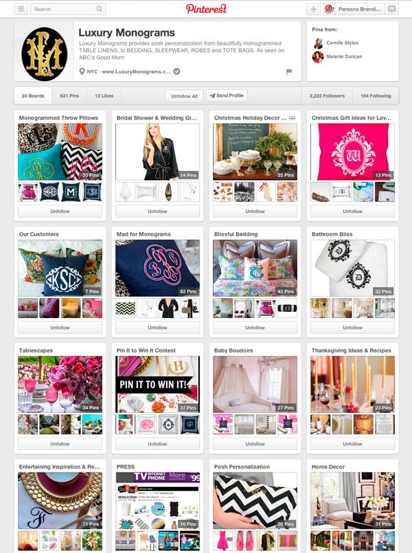 Luxury Monograms Pinterest