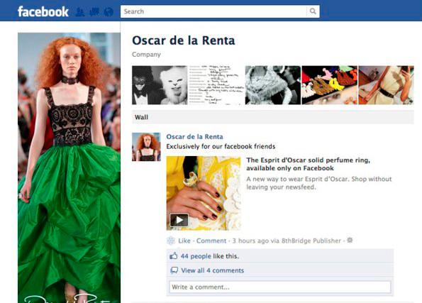 Oscar De La Renta Facebook