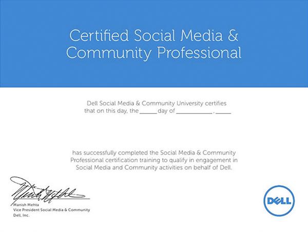 Dell Social Media Cert