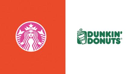 Starbucks Dunkin Donuts Colour Swap