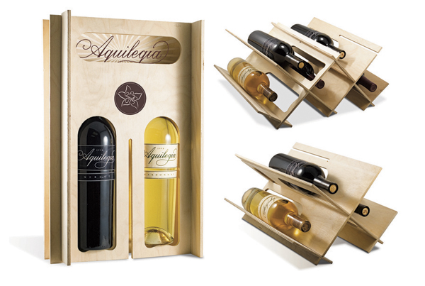 Aquilegia Wine Wooden Packaging Design