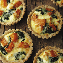 Spinach Crabmeat Tartlets