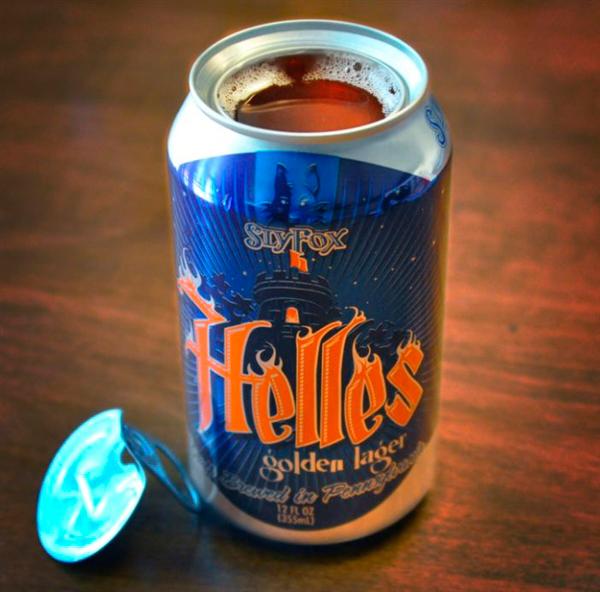 Helles Topless Beer Can