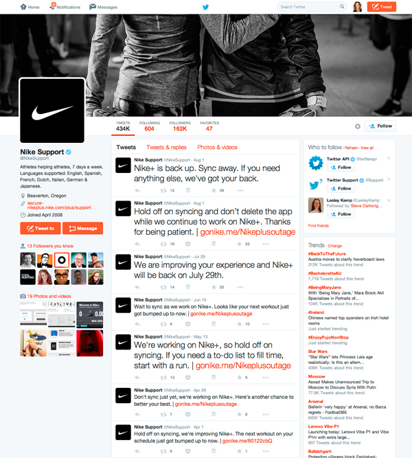 Nike Support On Twitter
