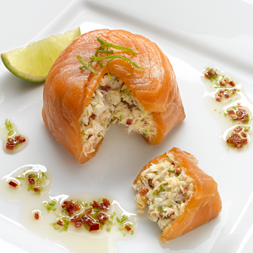 Smoked Salmon Crab Parcels