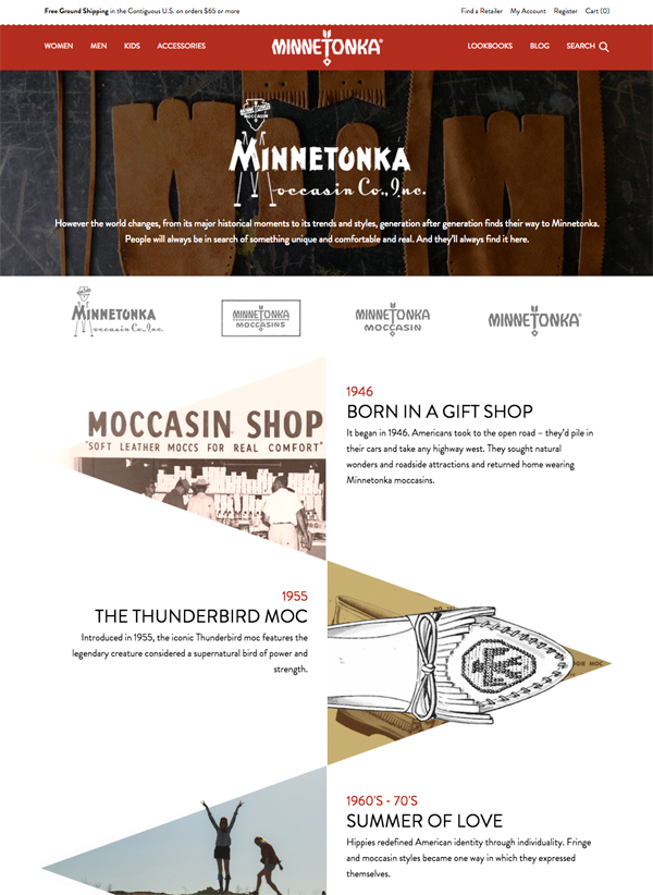 Minnetonka Moccasin History