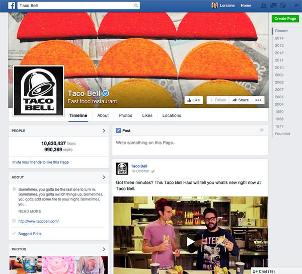 Taco Bell Facebook 600px