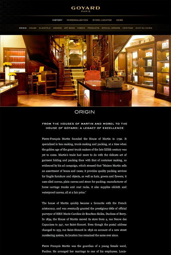 Goyard Paris History 600px