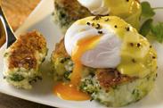 O Egg Colcannon Cakes Poached Egg