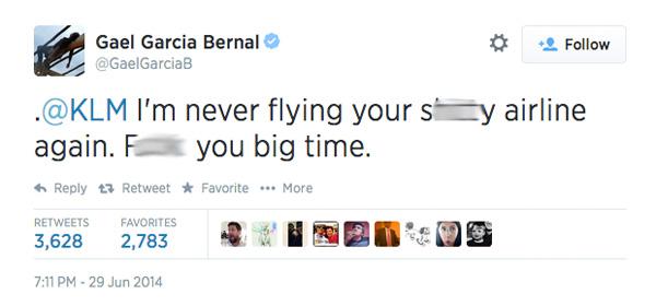 Gael Garcia Bernal Tweet